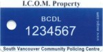 ICOM Property Keytag Sample (Front)